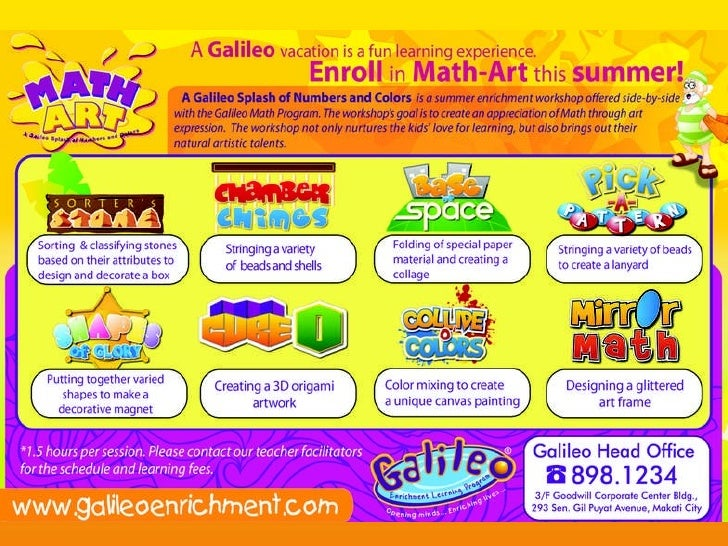 Enroll in Math-Art this summer!