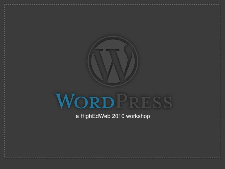 WordPress 3.x for the sake of your sanity