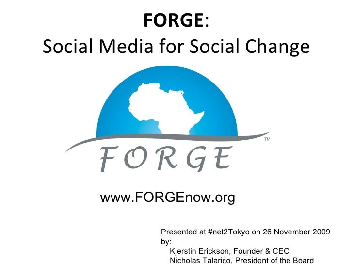 Forge   Social Media For Social Good