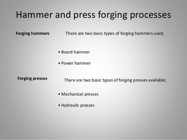 different types of forging process pdf