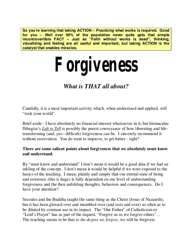 """FREE Chapter from """"Out of the blue""""  ~ on Forgiveness"""