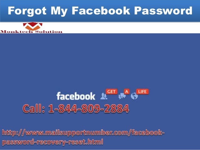 Forgot my facebook login and password