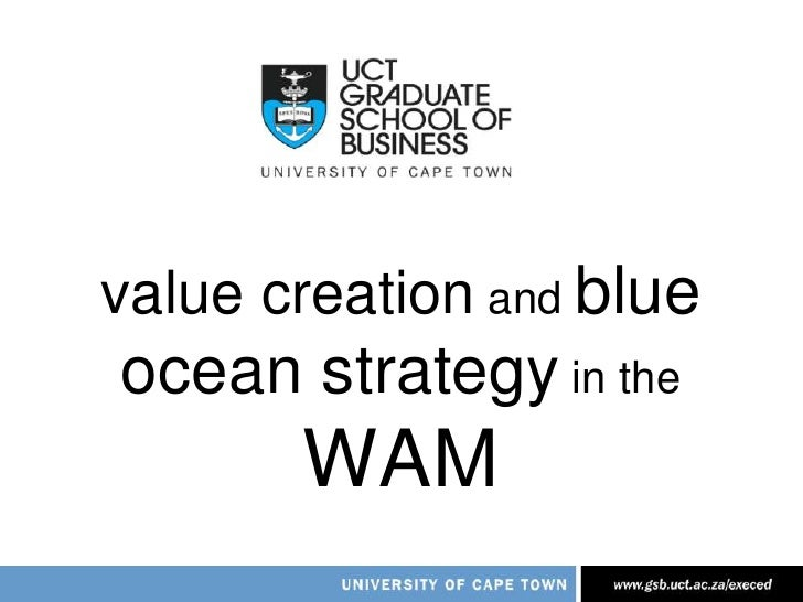 value creation and blue ocean strategy in the WAM<br />