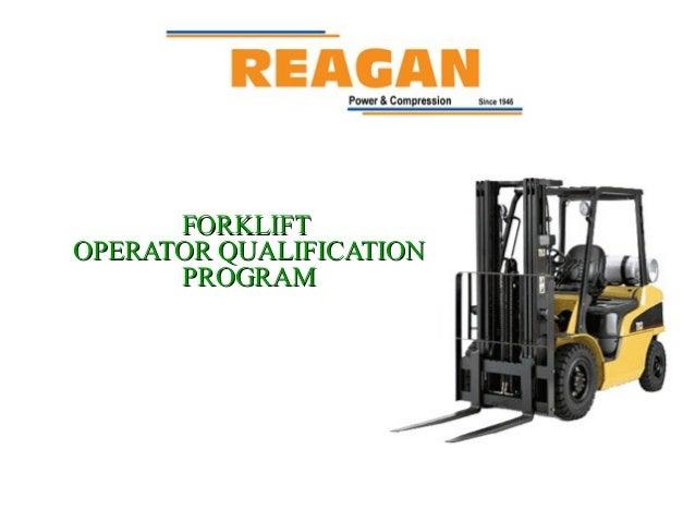Forklift Operator Qualification Program  Training by Reagan Equipment Company