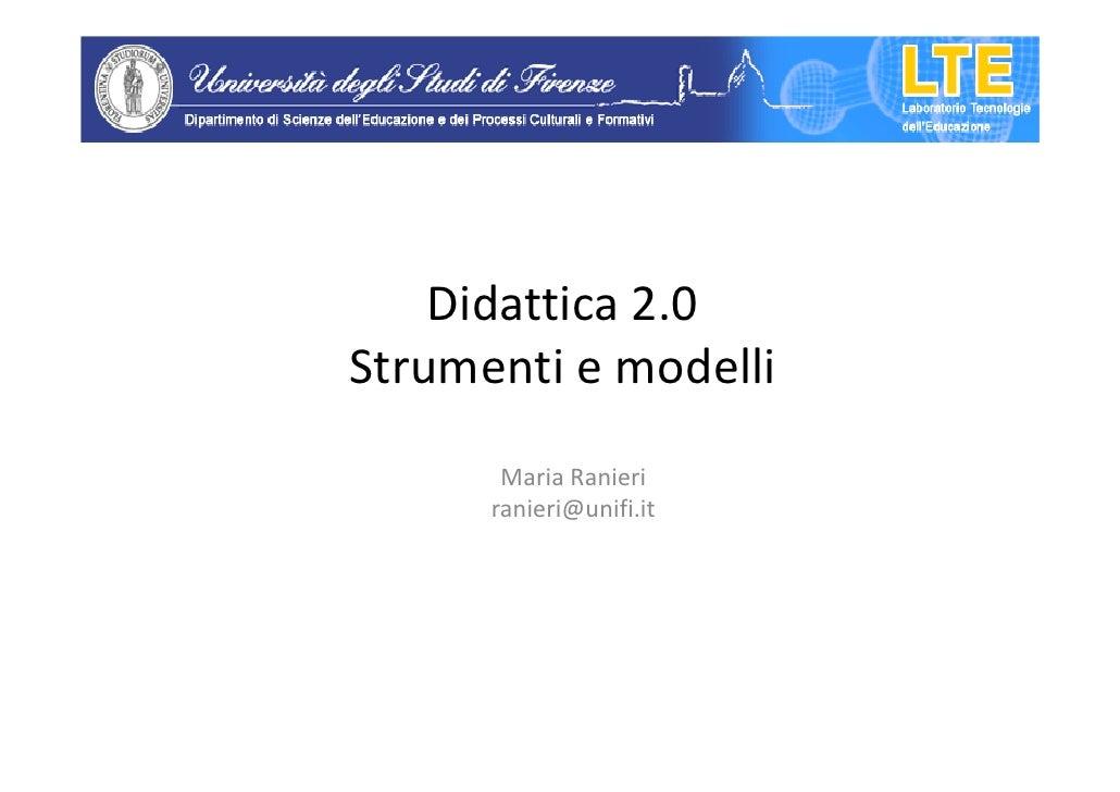 Didattica 2.0, Forlì 17 ottobre 2011