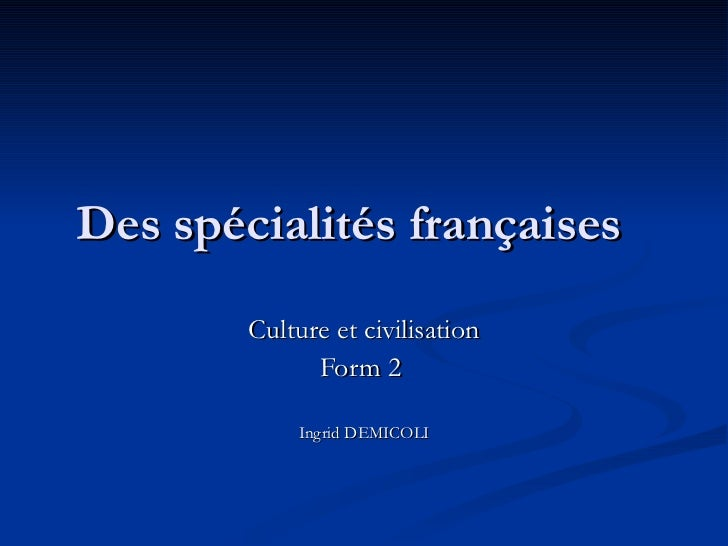 specialites francaises