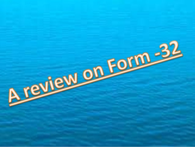 Form-32 Section 303 (2) The company shall, within a period of 30 days of any change in the Board. Section 264 (2) / 266 (1...