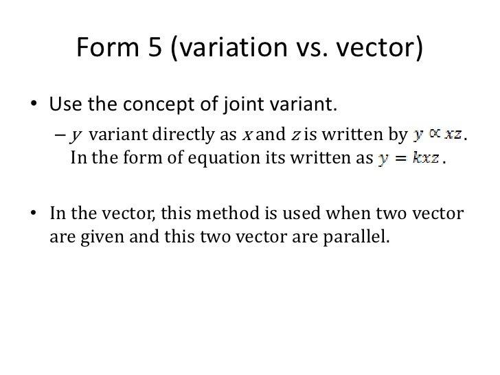 Form 5 (variation vs