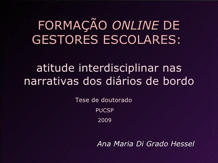 Formacao Online Ana Hessel