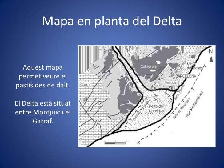 Delta Del Llobregat Mapa Mapa en Planta Del Delta