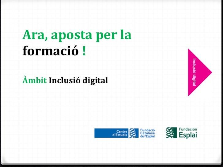 Formació inclusió digital
