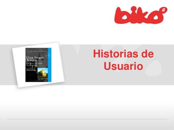 Historias de Usuario<br />