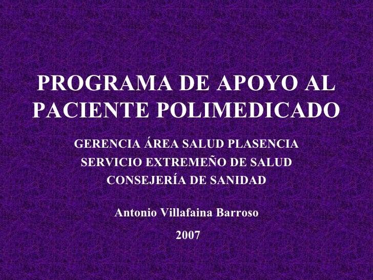 Formación Programa del Polimedicado Auxiliares del SAD