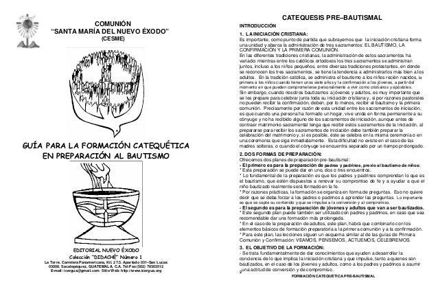 """CATEQUESIS PRE–BAUTISMAL                  COMUNIÓN                                                INTRODUCCIÓN       """"SANT..."""