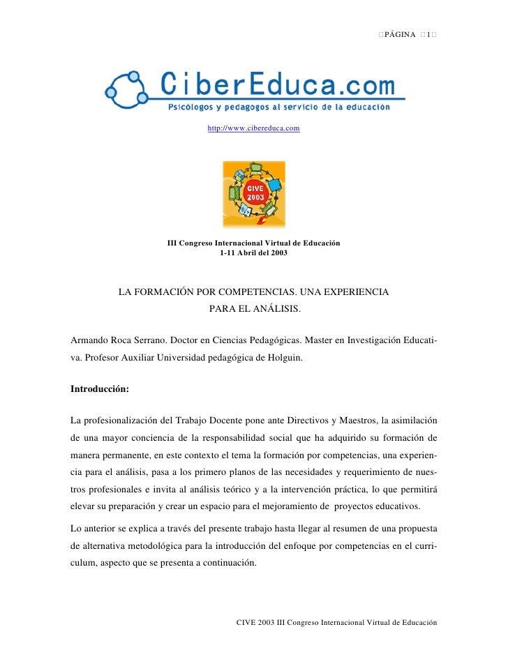 PÁGINA     1                                        http://www.cibereduca.com                             III Congreso Int...