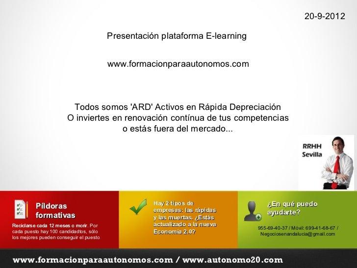 20-9-2012                                         Presentación plataforma E-learning                                      ...