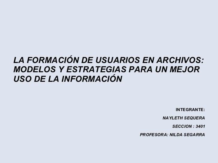 Formacion de usuarios de archivo
