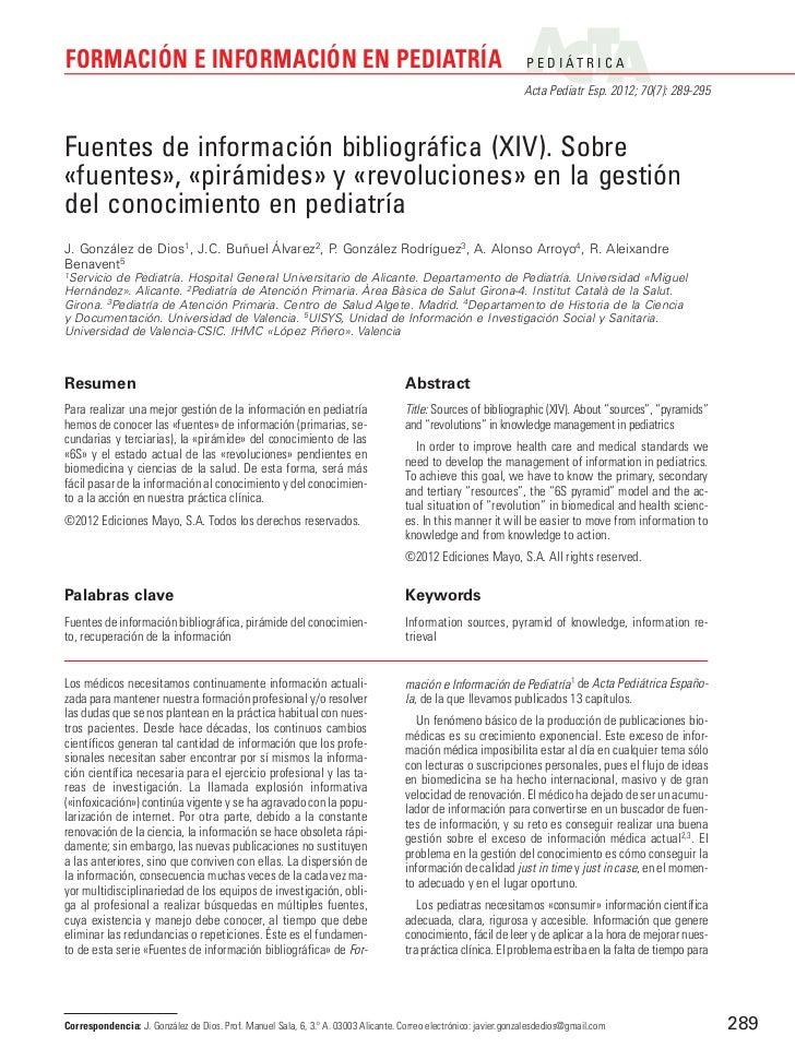 FORMACIÓN E INFORMACIÓN EN PEDIATRÍA                                                                              P E D I ...