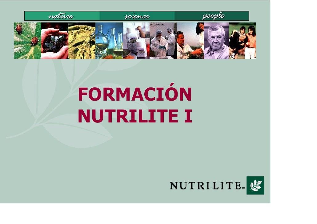 FORMACIÓN NUTRILITE I