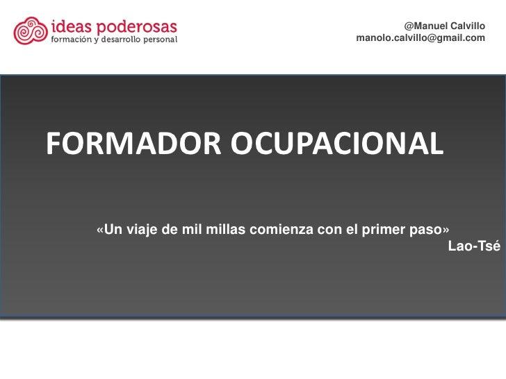 Formador ocupacional 2012 (I)