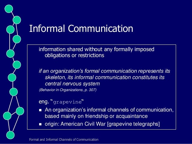 a report on formal communication network Way you apply business and report writing skills within the workplace what steps might you  effective communication skills writing is essential to communicate your message clearly and  the style and skills required for formal business writing are best.