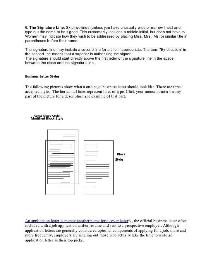 Writing Business Letters - Use the Correct Layout for Cover Letters