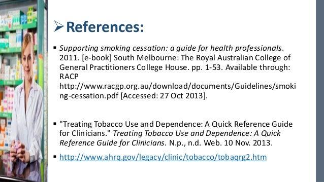 australia smoking ceassation guidelines racgp pdf