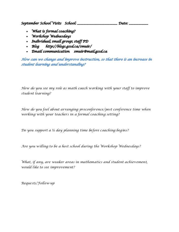 Formal coaching contract
