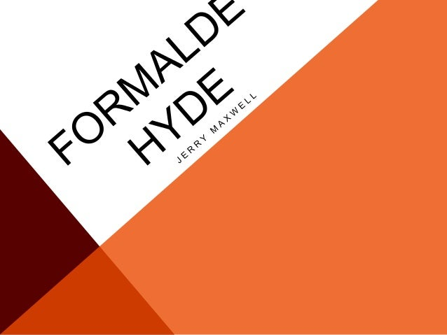 THE DISCOVERY OF FORMALDEHYDE