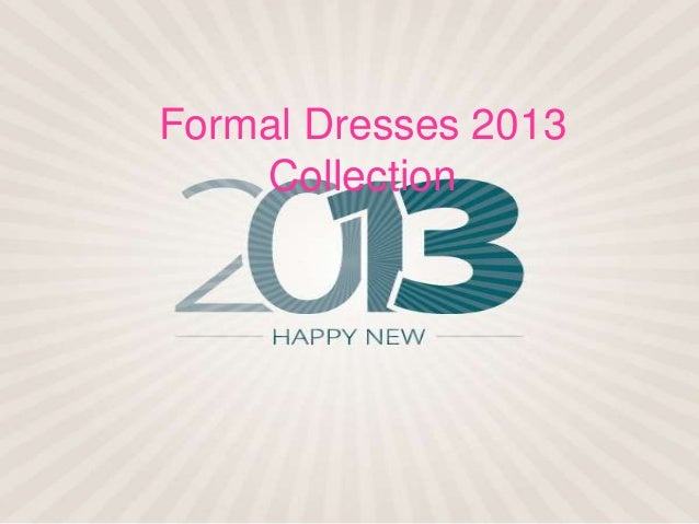 Formal dresses 2013 collection