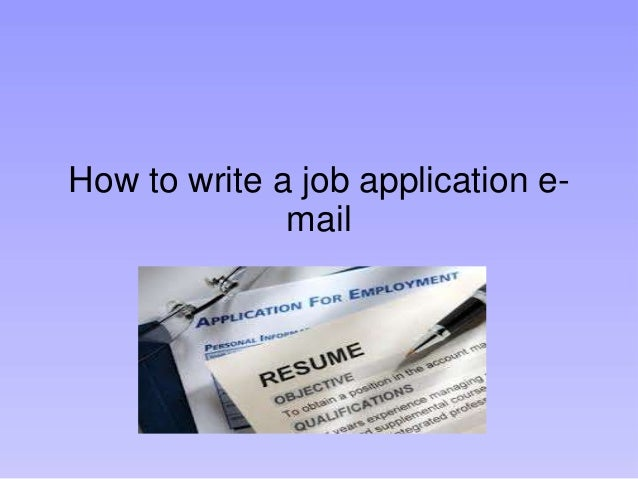 Applying for a job e-mail