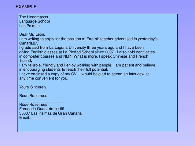 How to write a job application email