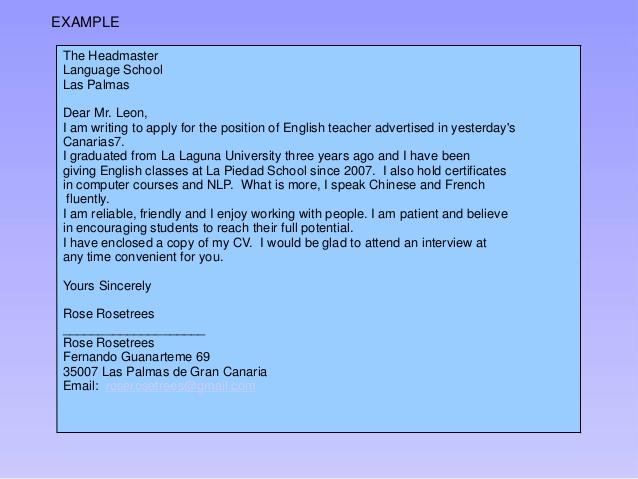 IELTS Writing Sample - Applying For A Job