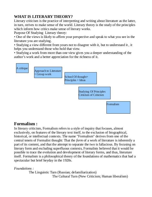 Formalist analysis essay