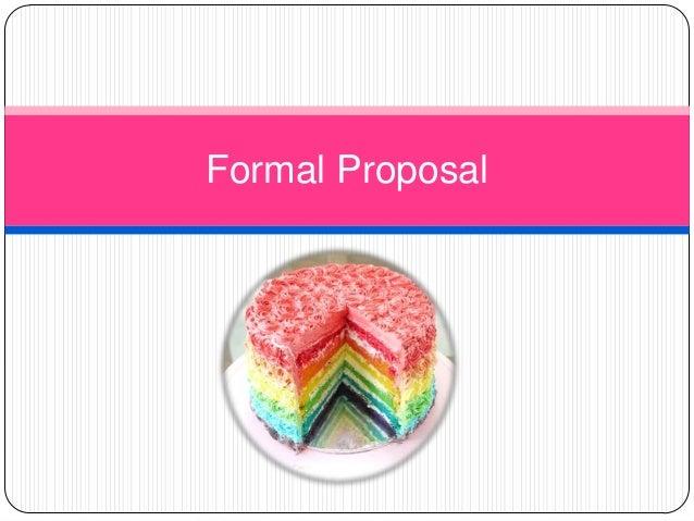 Formal proposal