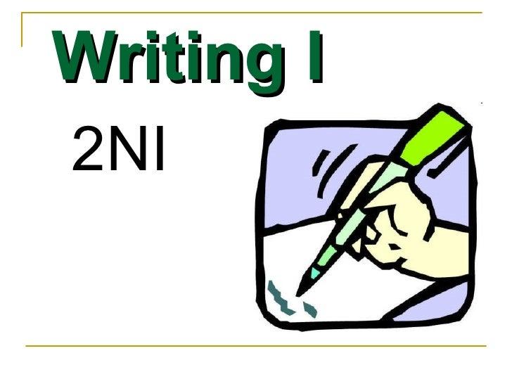 Writing I 2NI