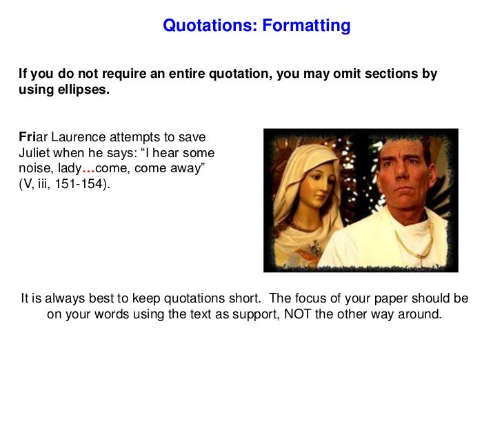 formal essay quotation rules Formatting an essay in chicago style year format, as in may 14, 2010 titles are either italicized or placed in quotation marks the rules are the same as in.