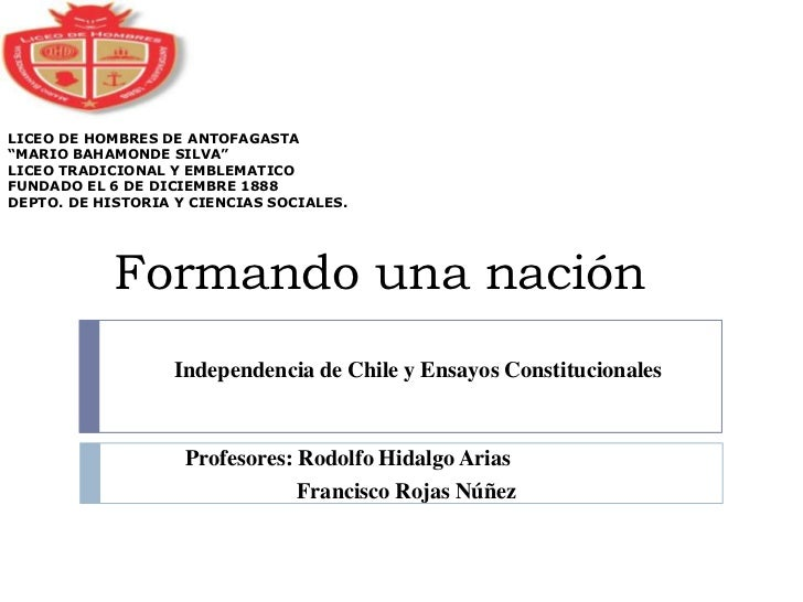 """LICEO DE HOMBRES DE ANTOFAGASTA""""MARIO BAHAMONDE SILVA""""LICEO TRADICIONAL Y EMBLEMATICOFUNDADO EL 6 DE DICIEMBRE 1888DEPTO. ..."""