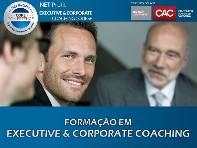 O QUE É EXECUTIVE COACHING?É o processo pelo qual Coach e Cliente (denominado Coachee) formam umaparceria para identificar...