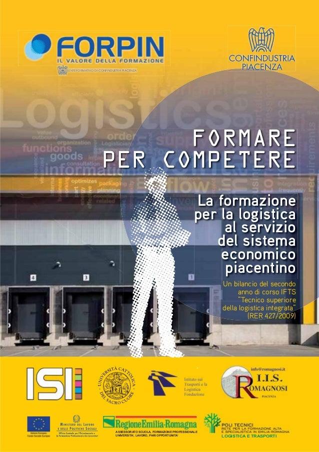 LOGISTICA E TRASPORTI ASSESSORATO SCUOLA, FORMAZIONE PROFESSIONALE UNIVERSITA', LAVORO, PARI OPPORTUNITA' ENTE FORMATIVO D...