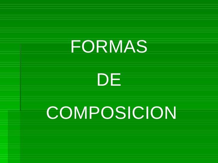 Formas basicas