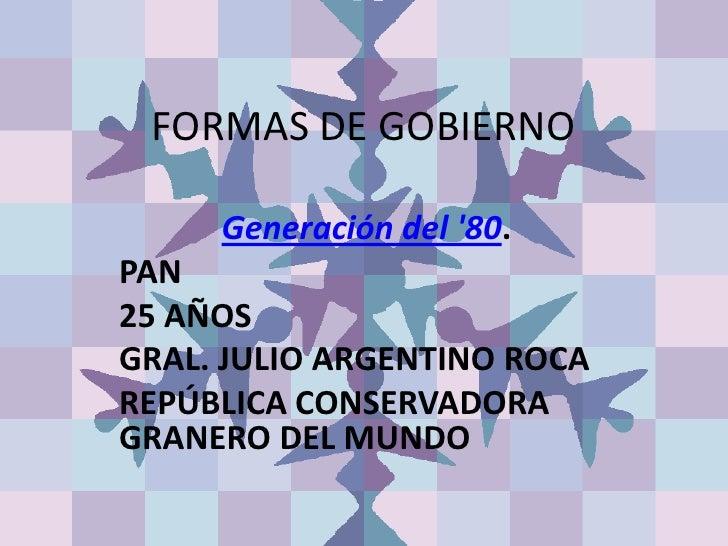 Formas de gobierno argentina