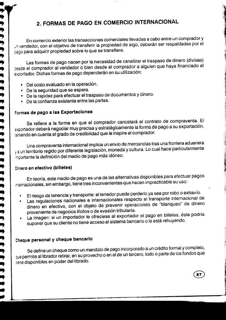 t l) D                2. FORMAS DE PAGO EN COMERCIO INTERNACIONAL D I           En comercio exterior las transacciones com...