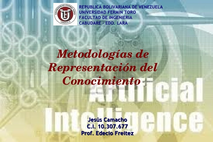 REPUBLICA BOLIVARIANA DE VENEZUELA     UNIVERSIDAD FERMIN TORO     FACULTAD DE INGENIERIA     CABUDARE – EDO. LARA Metodol...