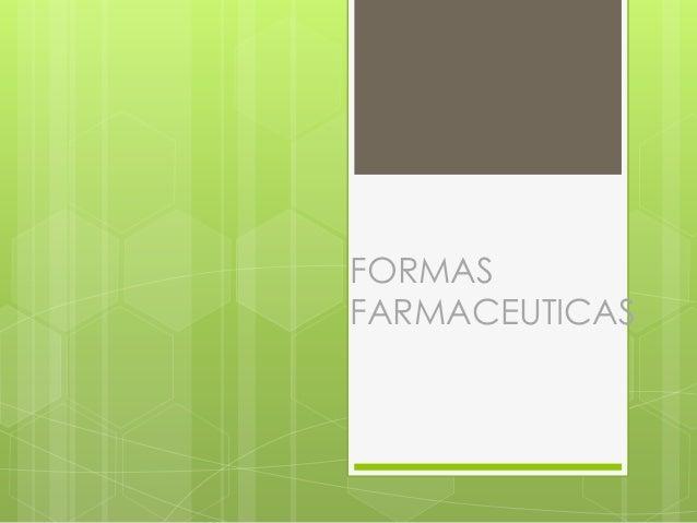 FORMASFARMACEUTICAS