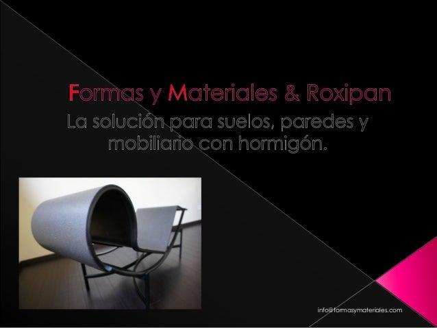 info@formasymateriales.com