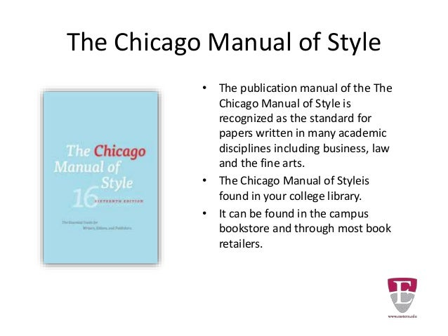 chicago manual of style generator