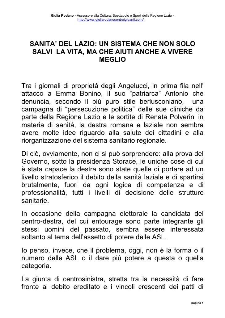 Giulia Rodano - Assessore alla Cultura, Spettacolo e Sport della Regione Lazio -                           http://www.giul...