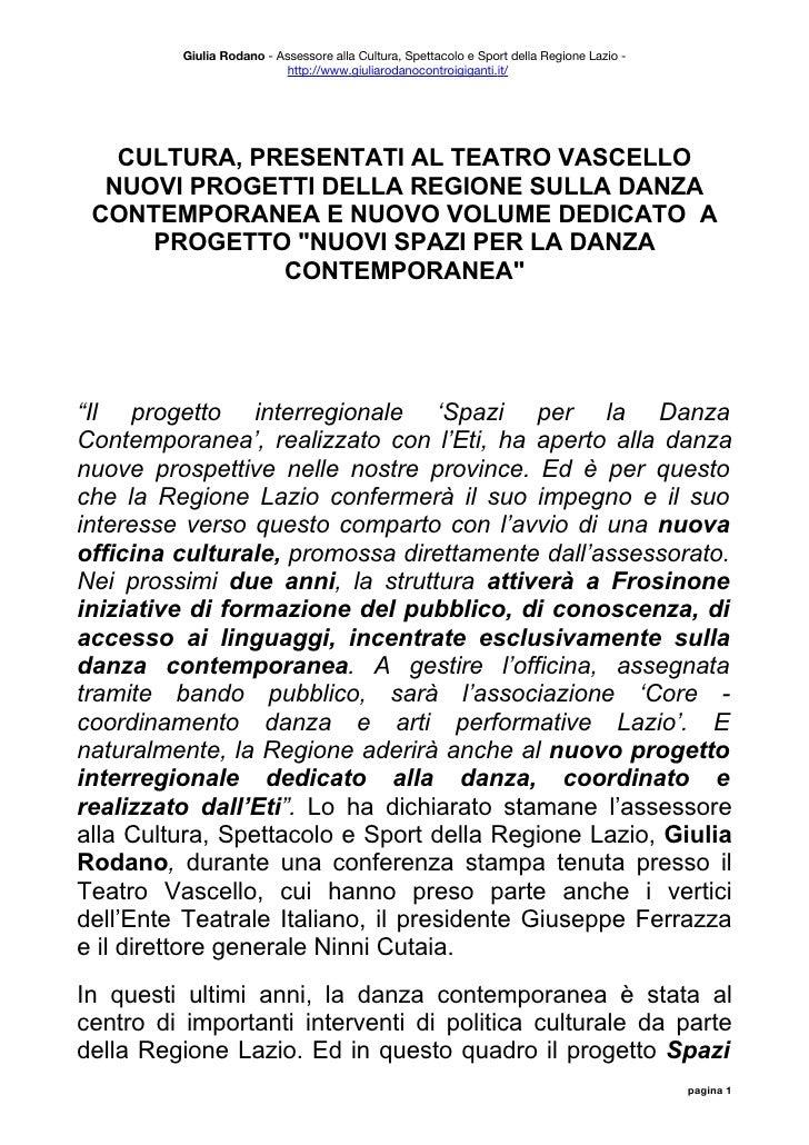 Giulia Rodano: nuovi progetti per la danza contemporanea