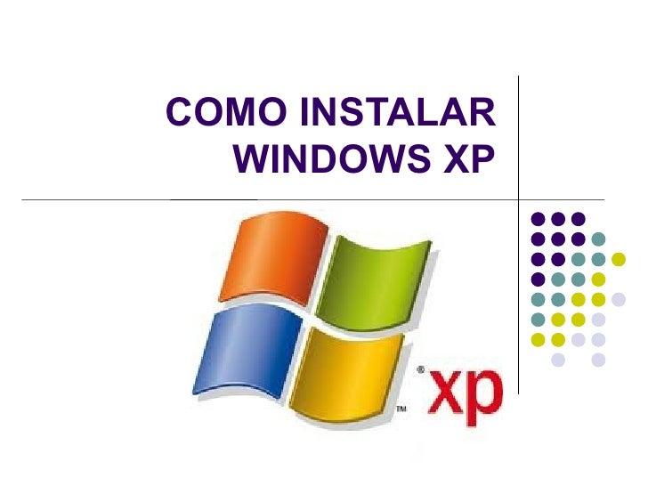 Formateando e instalando_xp